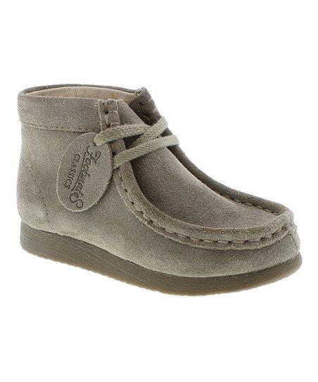 Taupe Wally Leather Chukka Boot - Boys