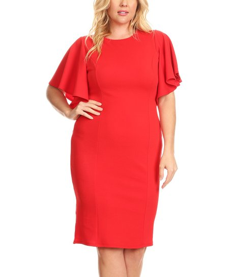 love this product Red Angel-Sleeve Dress - Women   Plus 01346eb05c