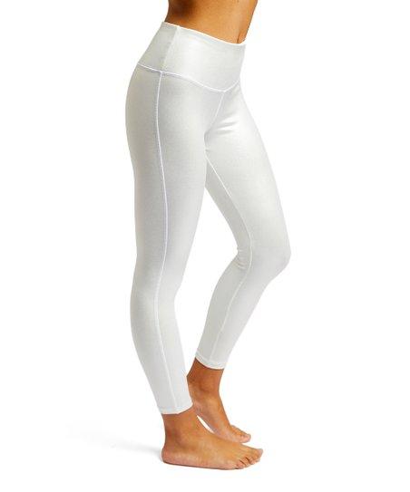559ccf9059edd8 love this product Silver Shine Metallic Leggings - Women