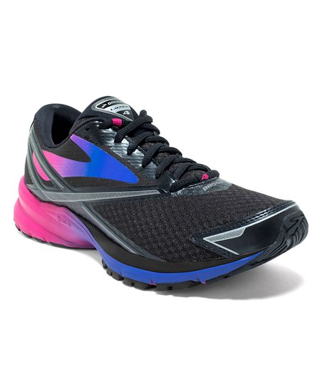 52db43bcec6 Brooks Black   Fuchsia Launch 4 Running Shoe - Women