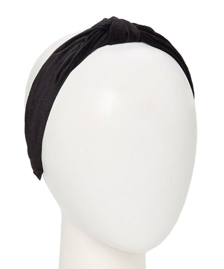 Do Everything In Love Black Faux Suede Top-Knot Headband  86afcc53d4d