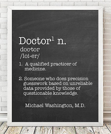 Hypolita Doctor Definition Personalized Print