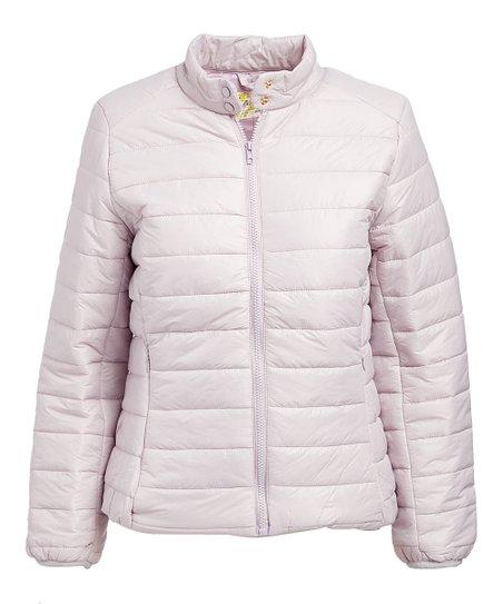 e02af99de9cc4 Daisy Apparel Lavender Lightweight Puffer Jacket - Women   Zulily