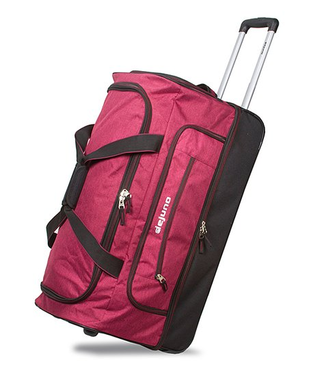 ea93f63b0d Dejuno Burgundy Blue Dejuno Drop Bottom Rolling Duffel Bag
