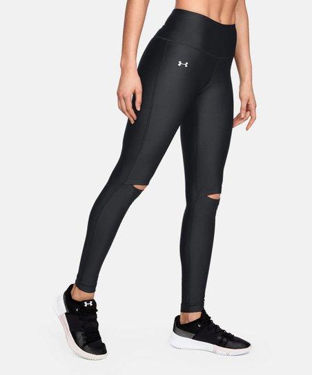 4b29acc95b47f1 Under Armour® Black UA HeatGear® Fashion Cutout Leggings - Women ...