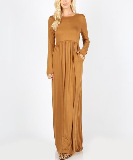 a52ad67f8497 love this product Coffee Long-Sleeve Maxi Dress - Women