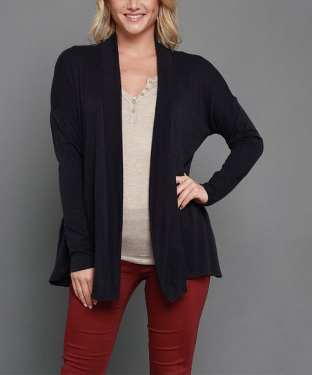 love this product Navy Luxe Open Pocket Cardigan - Women