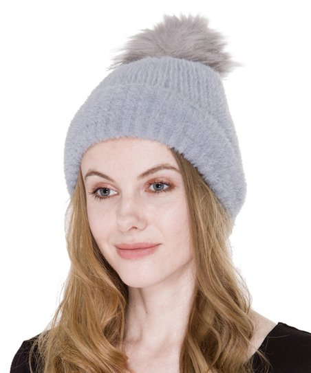 Janice Gray Sherpa Cable-Knit Pom-Pom Hat  c58da671602
