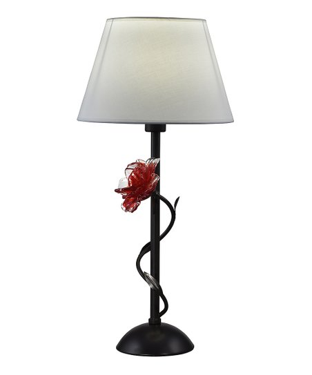 Dale Tiffany Black Red Rose Table Lamp Zulily