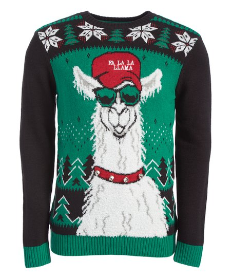 Ugly Christmas Sweater Emerald Fa La La Lama Sweater Men Zulily