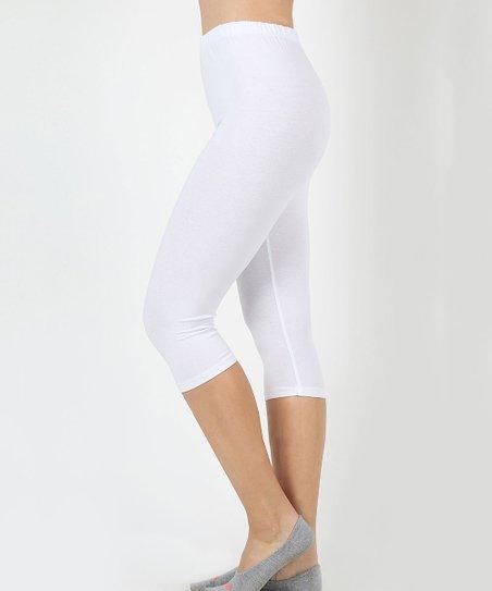 e231a37542dfc3 love this product White Capri Leggings - Women