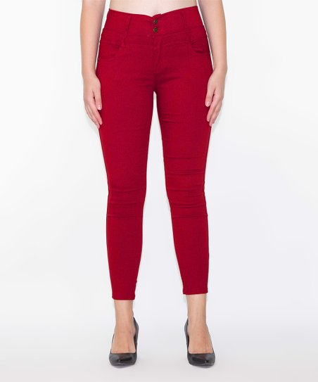 909e26e73f4cf love this product Red High-Waist Jeggings - Women