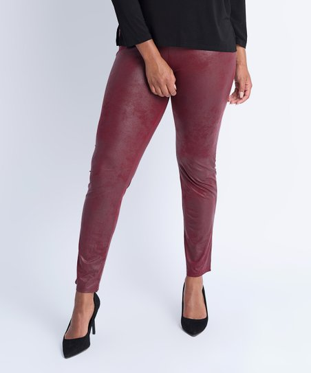 1d2f2240ccf97 love this product Wine Red Faux Leather Skinny Pants
