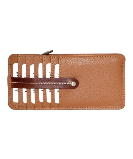 1eb18460243f Nino Bossi Handbags Cognac Madeline Leather Card Holder