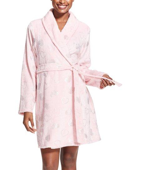 5889d72317 bebe Light Pink Foil-Heart Robe - Women