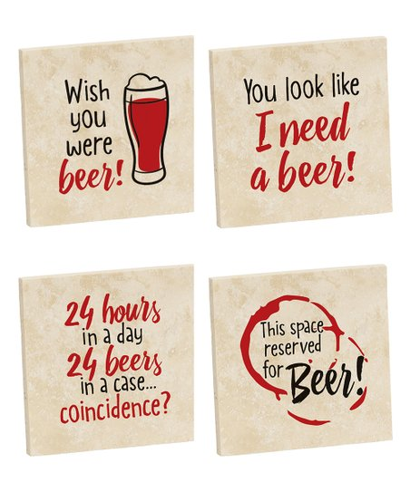 Relatively Funny Four Piece Beer Coaster Set Best Price And Reviews Zulily