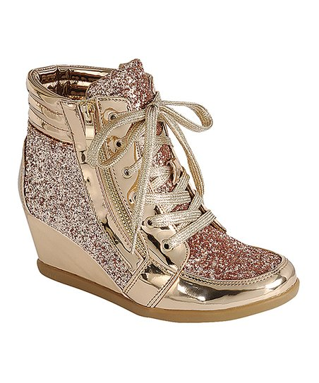 love this product Rose Gold Peggy Wedge Sneaker - Women 3a0aa9e94