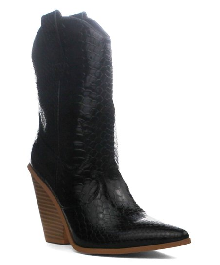 33724aab740 Cape Robbin Collection Black Fever Cowboy Boot - Women | Zulily