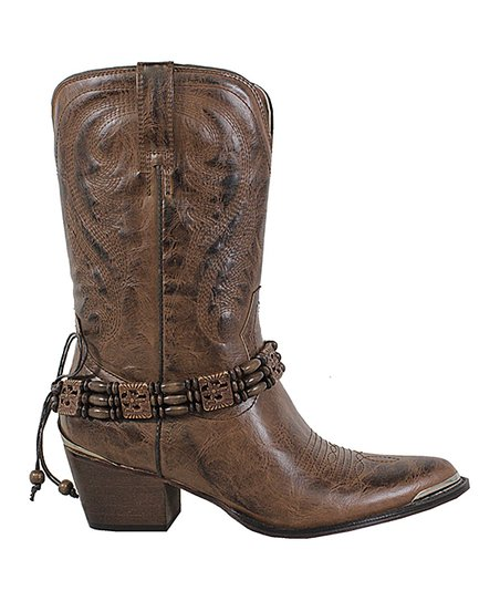 50e27b87c8e love this product Brown Embellished Cowboy Boot - Women