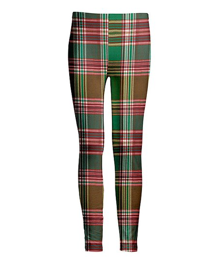 1b3e3e9faec23 love this product Green & Red Plaid Leggings - Women