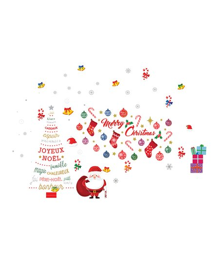 Merry Christmas French Wall Decal