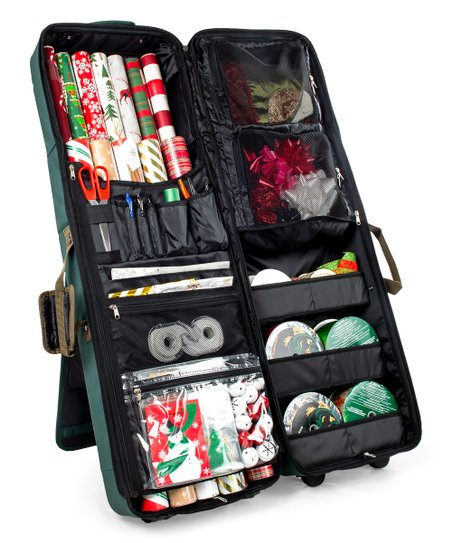 Black Deluxe Gift Wrap & Craft Storage Station
