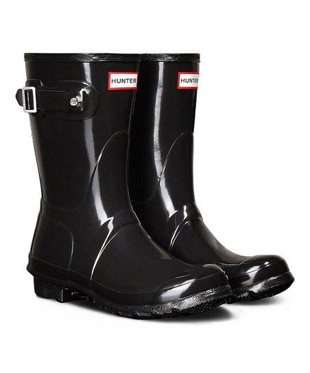 e5de9124f Hunter Original Short Gloss Black Rain Boot - Women | Zulily