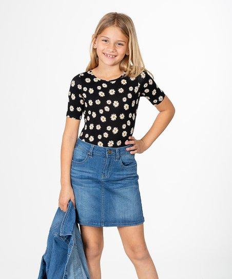 aaef58a05cdc YMI Jeans Blue Denim Skirt - Girls   Zulily