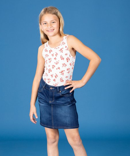 86779b8d9783 YMI Jeans Dark Blue Denim Skirt - Girls   Zulily