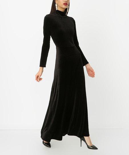 Mock Neck Maxi Dress