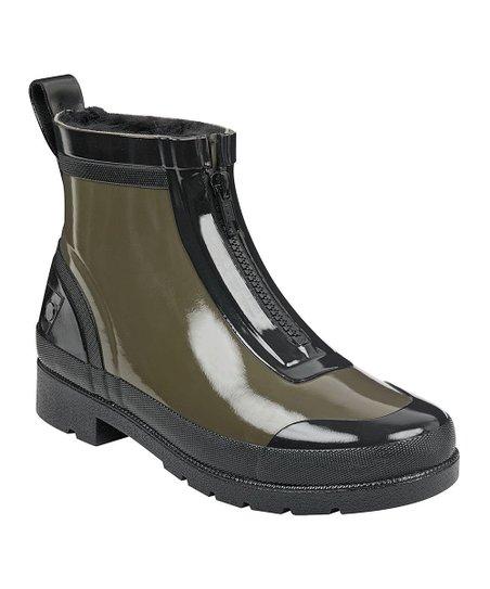 Green Lina Zipper Rain Boot - Women