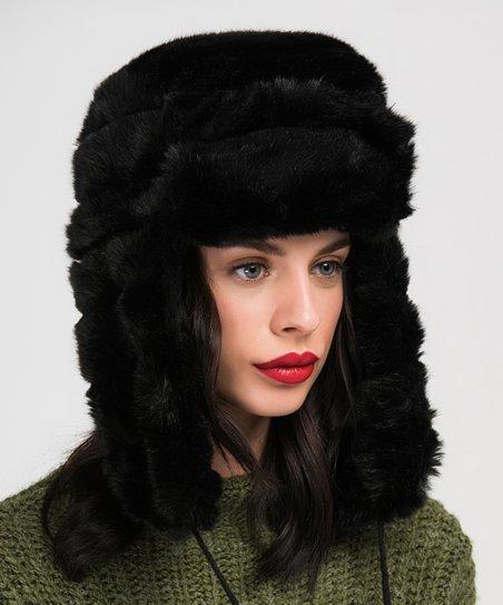 e9f969bc1e9ab love this product Black Faux Fur Trapper Hat