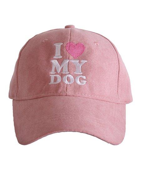 Pink 'I Love My Dog' Baseball Hat
