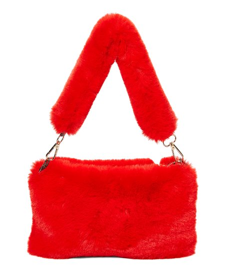 79006ecdff03 love this product Red Faux Fur Clutch