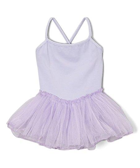 Poppy & Plum Lavender Cross-Back Skirted Leotard - Girls