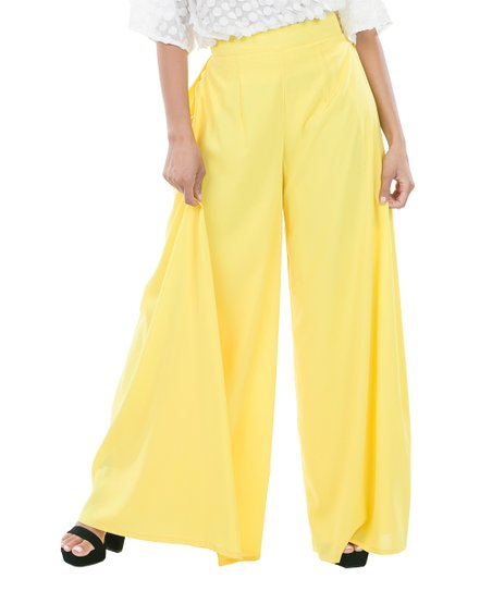 ad041b9d1d09 love this product Yellow Pleated Palazzo Pants - Women