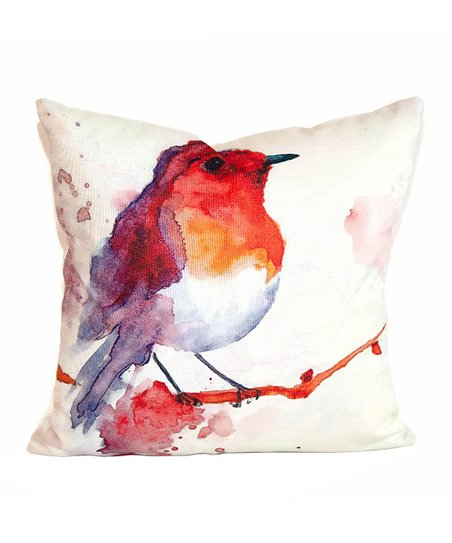 Le Papillon Beige Orange Bird Pillow Cover Best Price And Reviews Zulily