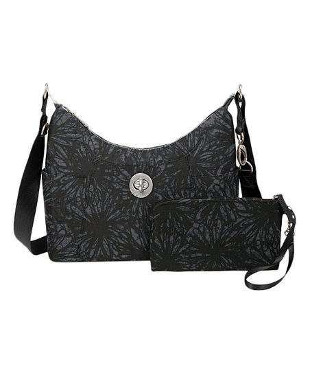 af1922fc7845 love this product Onyx Floral Zurich Medium Hobo   Wristlet