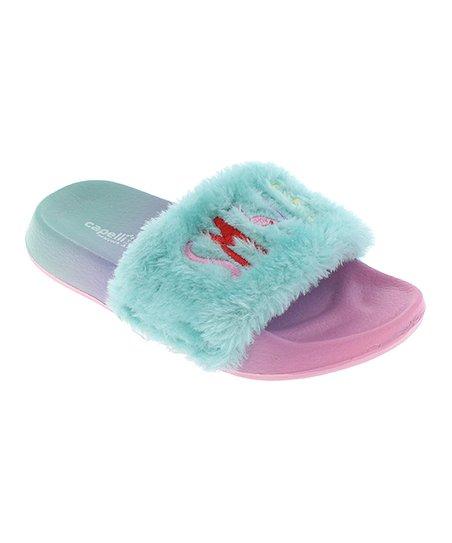 c4e6cc9aff6 love this product Mint  Smile  Faux Fur Slide - Girls