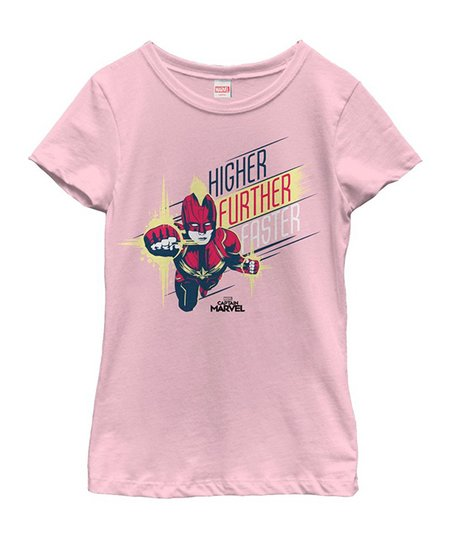 c37a44803bb love this product Captain Marvel 'Higher Further Faster' Tee - Girls