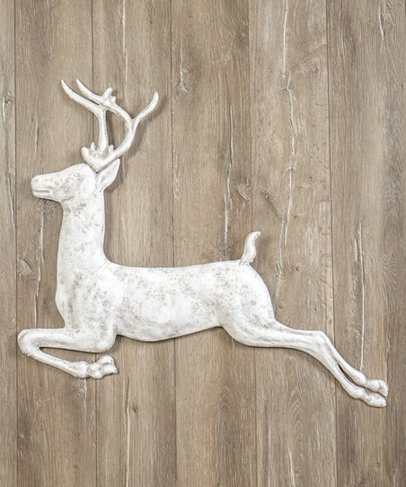36 Antique White Deer Wall Décor