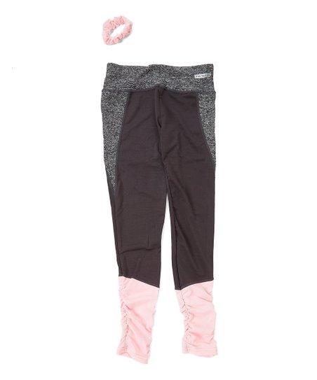 6fe9baba9d656 Star Ride Excalibur Color Block Leggings & Scrunchie - Girls   Zulily