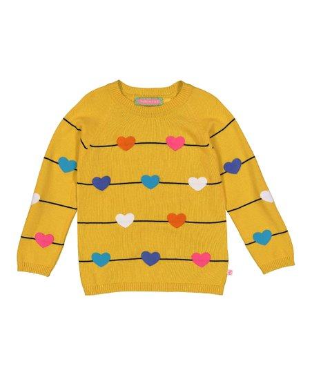 sophie sam yellow black stripe hearts sweater infant toddler