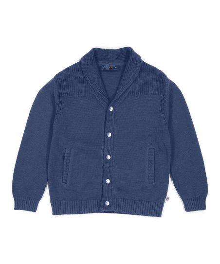 e457e4757039 Sophie   Sam Blue Shawl Collar Cardigan - Toddler   Boys