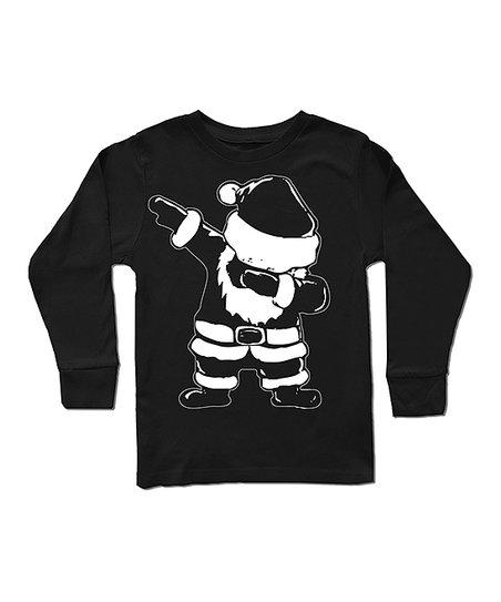 5bce7afff17170 love this product Black Dabbing Santa Long-Sleeve Tee - Toddler & Boys