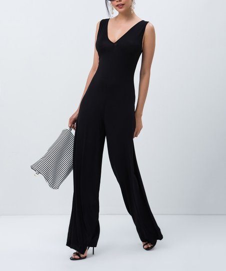 70556a00a658 love this product Black V-Neck Jumpsuit - Women