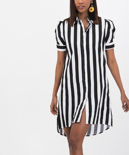 2fb1baec2d38 love this product White Stripe Shirt Dress - Women
