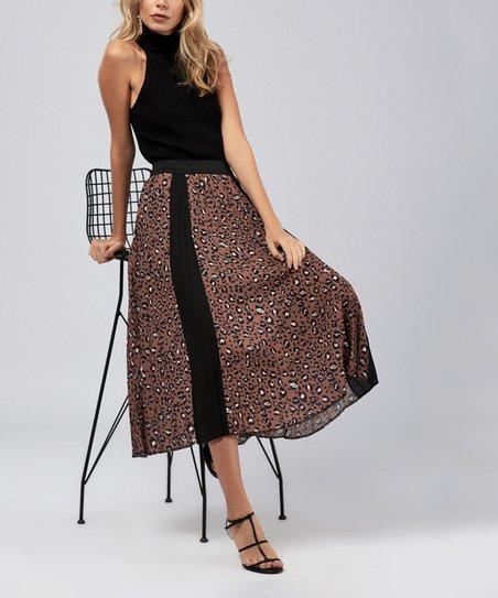 7eebba3c251ec Milan Kiss Brown Cheetah Sleeveless Turtleneck Dress - Women