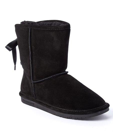BEARPAW Black Elizabeth II Suede Boot