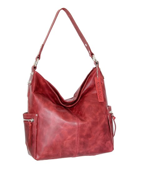 5ff14183566 Nino Bossi Handbags Berry Kyah Leather Hobo | Zulily